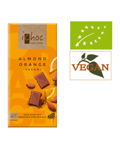 iChoc Almond Orange Bio Schokolade vegan